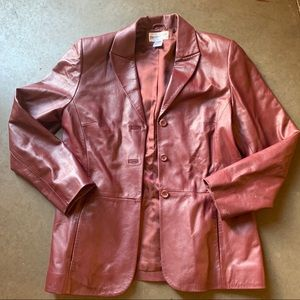Women's Vintage Pendleton Leather Coat Blazer M